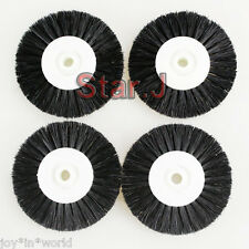 4 Plastic Hub Wheel Brush Dental Polishing Cleaning Buffing Rotary 2rows Bristle