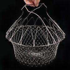 Multifunction Stainless Steel Telescopic Folding Basket Chef Basket Filter AZ