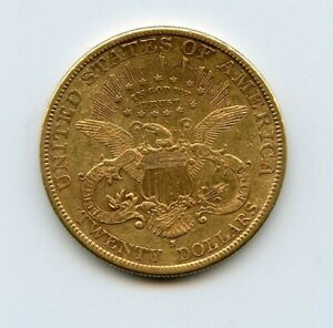1894-S $20 Liberty Head Double Eagle Gold Coin CIRCULATED