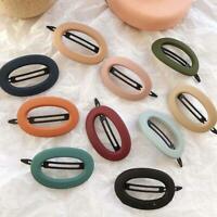 Solid Color Women Scrub Acrylic Headwear Hair Accessories Hair Clips Hairpins