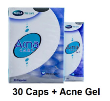 (Acne Treatment Set) Mega Acna Care 30 Capsules, Acna Care Gel Pimples Acne 10g.