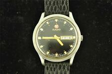 VINTAGE MENS RADO STARLINER 999 AUTOMATIC DAY/DATE BLACK DIAL WRISTWATCH