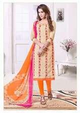 Designer Cotton Lakda Jacquard Fancy Work Suit Salwar Kameez Dress Material CK03