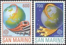 San Marino 1988 Europa/Transport/Communications/Train/Railway 2v set (n32557)