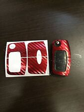 Carbonio C-rosso Pellicola Chiave Ford MK2 Galaxy C S Fiesta Smax CMax RS ST