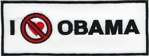 Worst Président - Sans Amour Pour Obama Collection Républicain Thé Patch