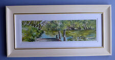 "Framed Original Pastel/Watercolour ""Murray River"" Pinjarra, Western Australia"