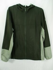 UA Under Armour Men's Size Large Green Full Zip Storm Loose Fit Colorblock Hood