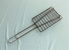 Vintage Wire Gas Stovetop Toaster Toast Cooker, Campfire Rack with Handle