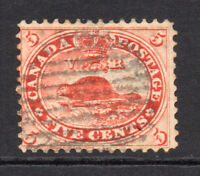 Canada 5 Cent Stamp c1859 Used (little tone) (8272)