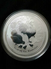 2017 1 oz .9999 Fine Silver Australia Series 2 Year of the Rooster Silver Coin