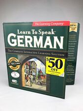 Learn to Speak German 7.0 (3 CD-ROM/Win 98/95) The Learning Company Sealed New!