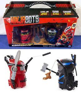 New NINJABOTS Hilarious BATTLING ROBOTS Black Tiger RED DRAGON Spin Master