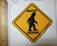 BIGFOOT CROSSING! beautiful embroidered patch, iron on style patch, new & unused