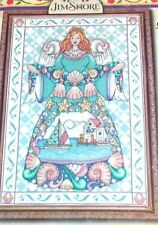 PATTERN ONLY:  COUNTED CROSS STITCH SEASHELL ANGEL - 14 X 20 INCHES
