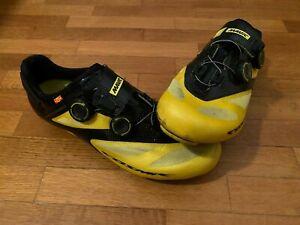 mavic cosmic ultimate II road cycling shoes scarpe ciclismo yellow black