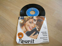 """7"""" Single Favorit Ted Wiener Orchester Fortell  Carolina Melodie Vinyl Pabel"""