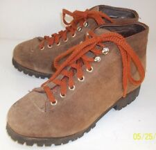 Womens Boots US 6.5 M Brown Suede Alpine Lace Up Hiking Walking Ankle Work