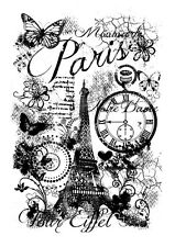 Woodware Clear Magic Singles Stamp - Paris Collage FRS638