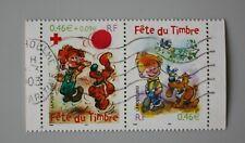 France année 2002 3467a 3468 P3467A oblitéré Fête du timbre Boule et Bill