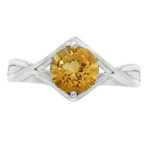 Natural Citrine 925 Sterling Silver Ring s.8 Jewelry E730