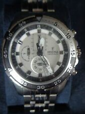 Mens Festina Chronograph Watch F16603 New in Box New Battery ~ FREE SHIPPING