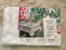 "Vtg NEW NOS SUNWEAVE CHRISTMAS Holiday Tablecloth 52 X 70"" PERMANENT PRESS~NICE!"