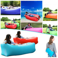 Inflatable Lounger Couch, Portable Air Sofa Sleeping Bed Chair with Fast Inflata