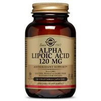 Solgar Alpha Lipoic Acid 120 mg 60 Vegetable Capsules FREE Shipping Made in USA