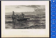 THEIR ONLY HARVEST, Colin Hunter  1879 Cousen Steel Engraving