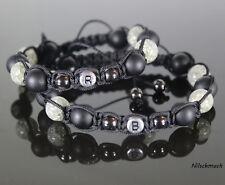 Armband Armreifen Bracelet Biker Perlenarmband Kugelarmband Rot//Schwarz Unisex
