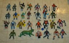 Huge Lot 1980's Mattel Master of the Universe He Man 28 Figures And Gear