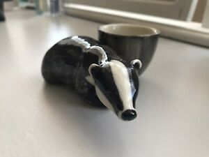Ceramic Badger Egg Cup Father's Day gift