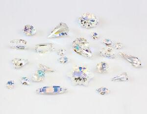 Genuine SWAROVSKI Glass Pendants Crystal AB Color * Many Shapes & Sizes