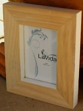 "*REDUCED* Rustic Natural  Wood  Photo Frame   ( 5 "" x  3 ""  ) BRAND NEW"