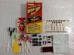 Vintage Tyco Slot Car Magnum 440 Hop-Up Kit Accessories Lot Flags Parts Decals