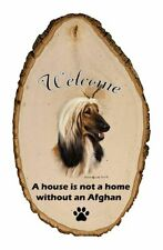 Outdoor Welcome Sign (Tb) - Afghan Hound 51087