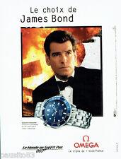 PUBLICITE ADVERTISING 125  1999   OMEGA  montre JAMES BOND Pierce Brosnan