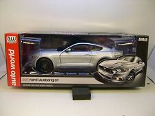 Silver 2017 Ford Mustang Gt Auto World 1:18 Scale Diecast Metal Model Car