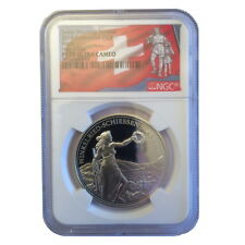 Switzerland 2018 Stans Shooting Taler 50 Swiss Francs Silver NGC PF70 PR70 UC