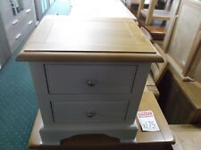 Top Brand New Solid Oak Painted 2 Drawer Oak And Cream Bedside Chest RRP £329