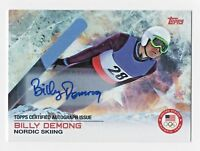 2014 Topps USA Olympic Team Autograph #23 Billy Demong Nordic Skiing Gold Medal