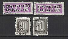 1956 Allemagne Orientale  4 timbres de service oblitérés / T1079