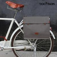 Tourbon Canvas Bike Messenger Bag Briefcase Courier Bag Mens Shoulder Office Bag