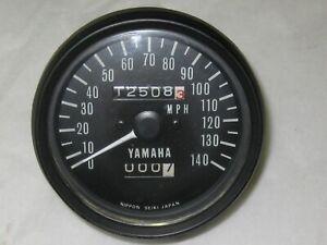 1974 1975 Yamaha TX650 XS650 Twin Speedometer Gauge NICE