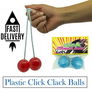 Clackers Balls - Plastic Click Clack Balls - Novelty Gift for Kids Boys Girls