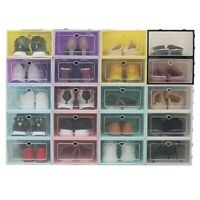 High Quality Foldable Clear Shoes Storage Box Plastic Stackable Shoe Organizer