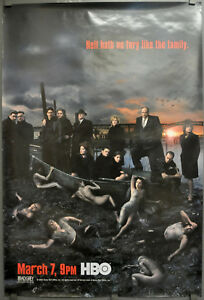 SOPRANOS 2006 AUTHENTIC 27X40 HBO TV POSTER JAMES GANDOLFINI EDIE FALCO SEASON 5
