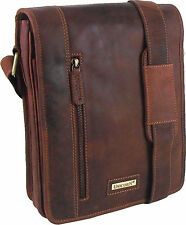 UNICORN Real Leather iPad, Kindle, Galaxy Tab Accessories Messenger Bag Tan #7K