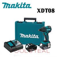 Makita XDT08 18V LXT Li-Ion Brushless Cordless Impact Driver Kit (3.0Ah) NEW